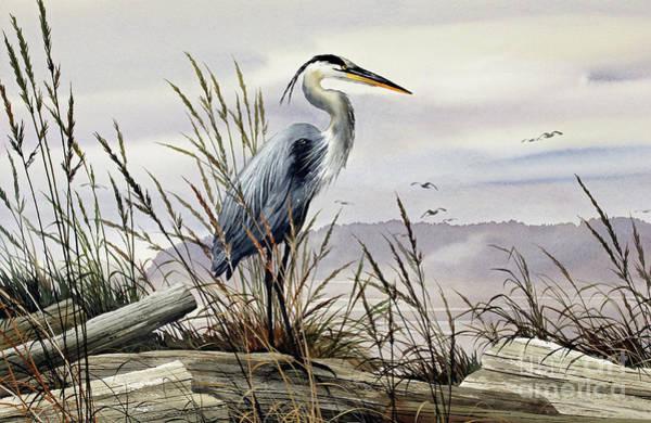 Wall Art - Painting - Herons Elegance by James Williamson