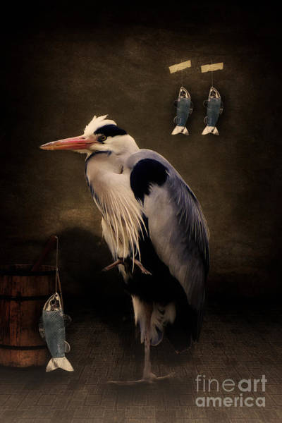 Digital Art - Heron's Home by Angela Doelling AD DESIGN Photo and PhotoArt