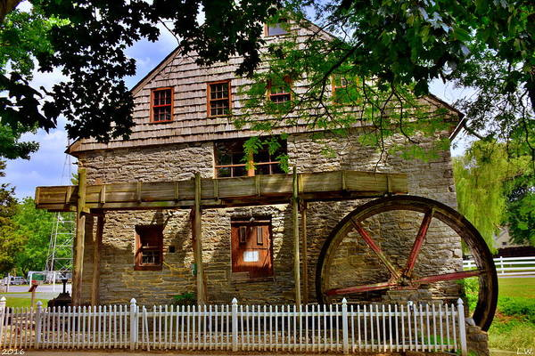 Grist Mill Photograph - Herr's Grist Mill by Lisa Wooten