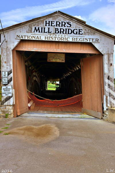 Photograph - Herr's Mill Bridge National Historic Register by Lisa Wooten