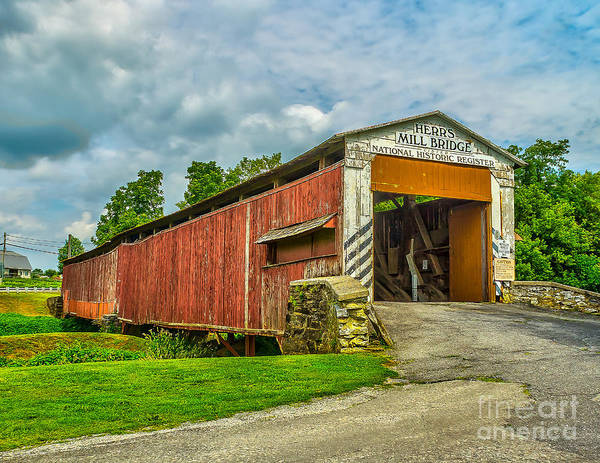 Photograph - Herr's Mill Bridge - Pa by Nick Zelinsky