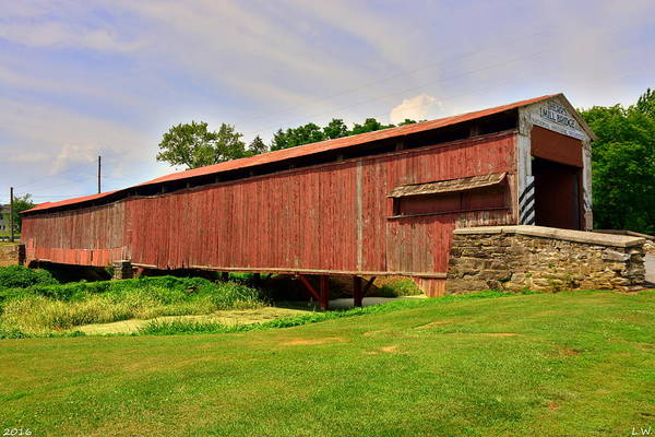 Photograph - Herr's Mill Covered Bridge by Lisa Wooten