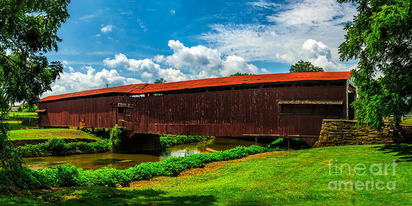 Photograph - Herrs Mill Covered Bridge by Nick Zelinsky