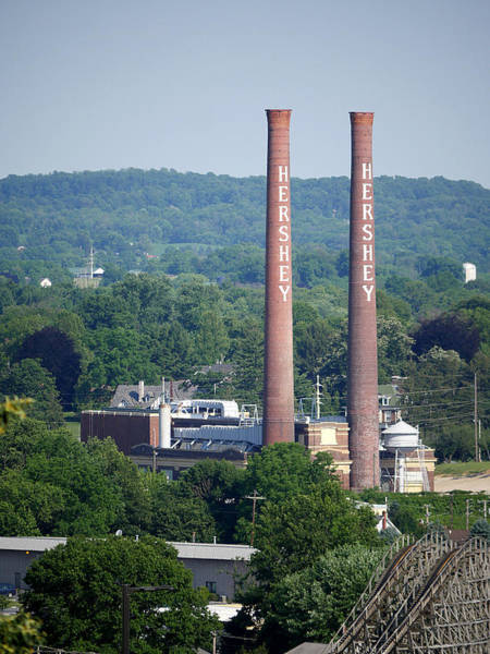Photograph - Hershey Smokestacks by Richard Reeve