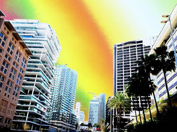 Arte Photograph - Herzog Beirut Terraces Rainbow  by Funkpix Photo Hunter