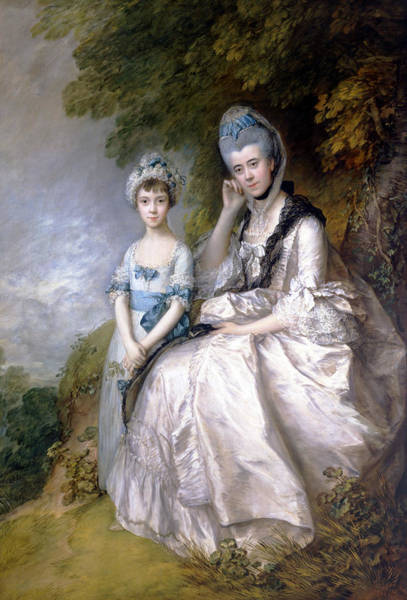 Painting - Hester Countess Of Sussex And Her Daughter Lady Barbara Yelverton  by Thomas Gainsborough
