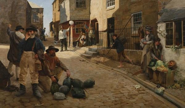 Newlyn Painting - Hevva Hevva by Percy Robert Craft
