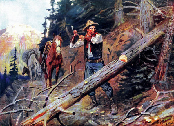 Painting - Hewing The Way by Philip R Goodwin