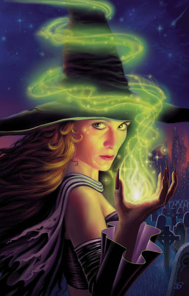 Wall Art - Painting - Hex Of The Wicked Witch by Philip Straub