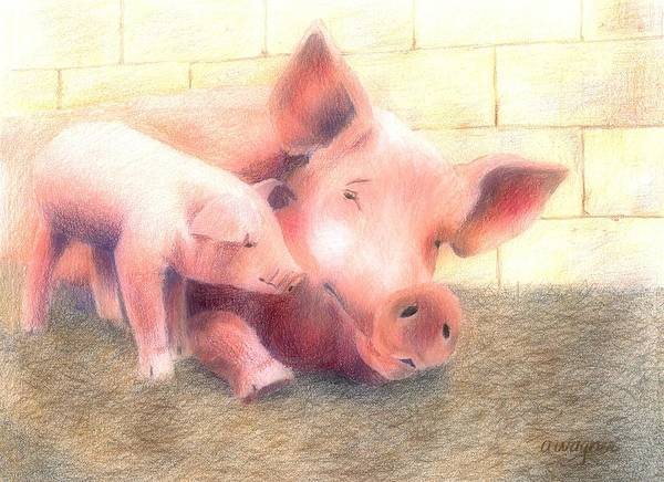 Wall Art - Pastel - Hey Mom...are You Awake by Arline Wagner