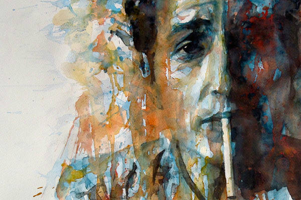 Folk Painting - Hey Mr Tambourine Man @ Full Composition by Paul Lovering