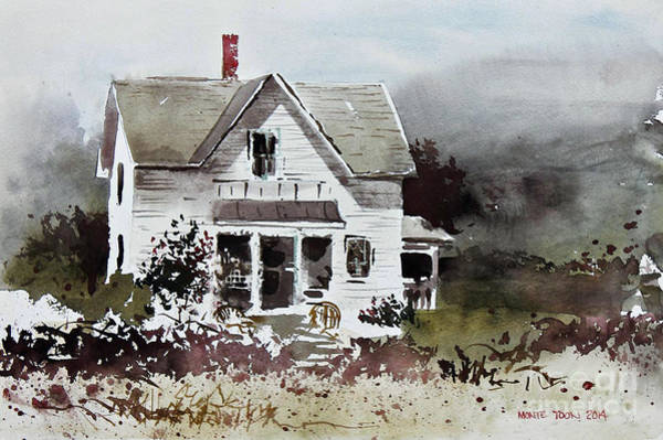 Painting - Heyl House, Minneapolis, Kansas by Monte Toon