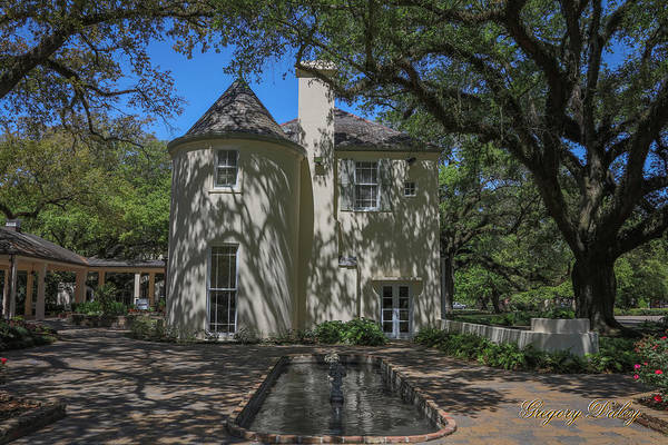 Photograph - Heyman House Fountain by Gregory Daley  MPSA