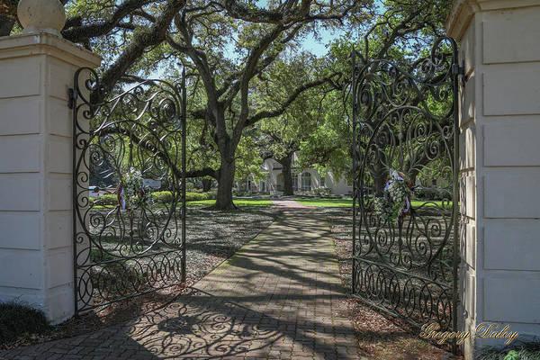 Photograph - Heyman House Gates 1 by Gregory Daley  MPSA
