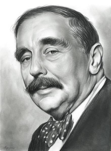 Drawing - H.g. Wells by Greg Joens