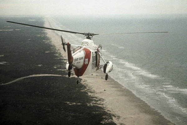 Photograph - Hh-52a Beach Patrol by Steven Sparks