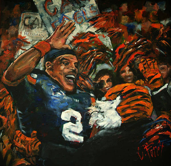 Wall Art - Painting - Hi Five Victory by Carole Foret