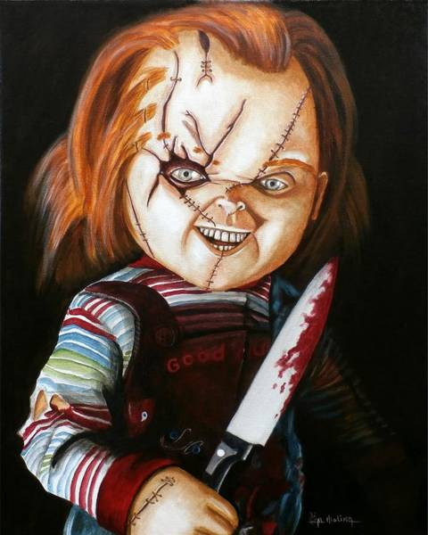 Wall Art - Painting - Hi I'm Chucky Wanna Play by Al  Molina