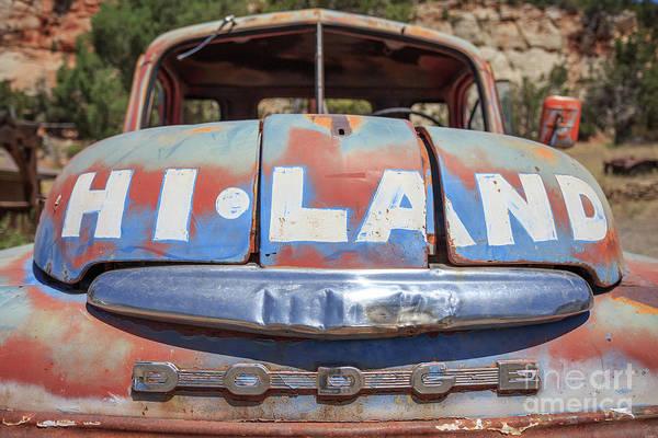 Dent Photograph - Hi Land Vintage Dodge Pickup Truck Utah by Edward Fielding