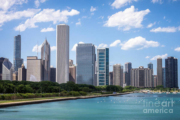 2012 Photograph - Hi-res Picture Of Chicago Skyline And Lake Michigan by Paul Velgos