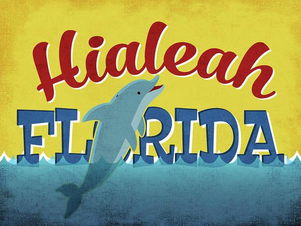 Advertisement Digital Art - Hialeah Florida - Dolphin by Flo Karp