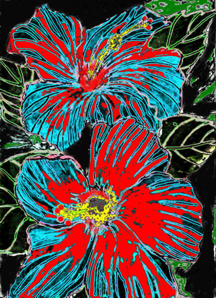 Hibisc Art Print