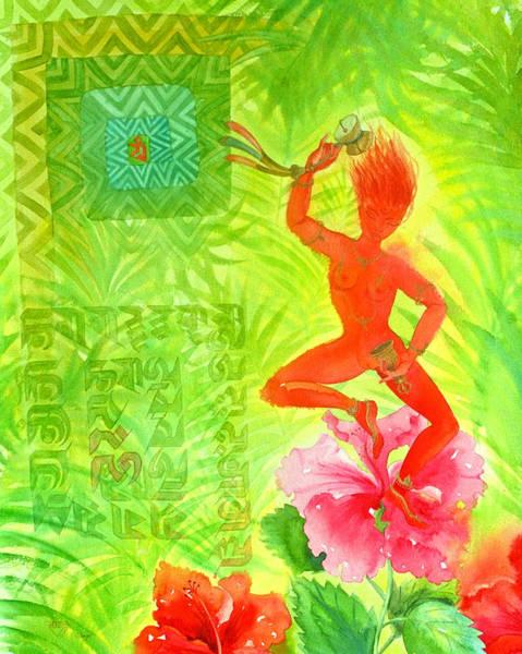 Hibiscus Flower Painting - Hibiscus Dakini by Jennifer Baird