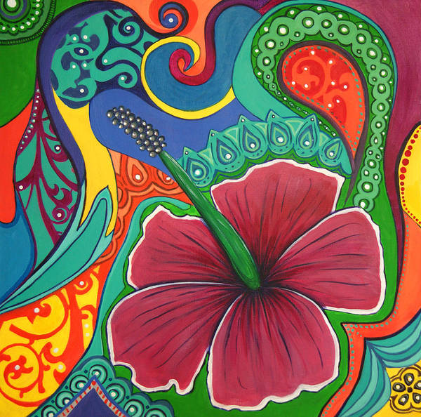 Upbeat Painting - Hibiscus Dream by Reina Cottier