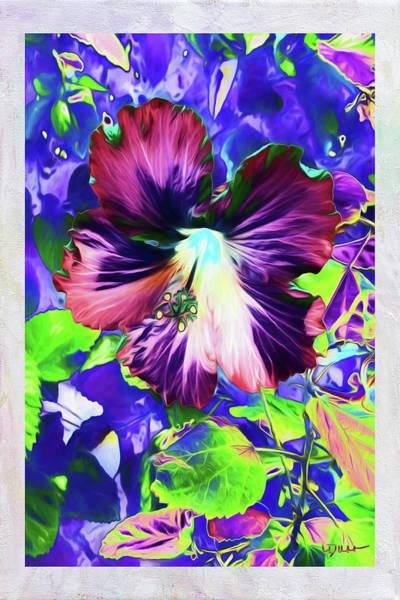 Wild Poppies Digital Art - Hibiscus Dreams by Linda Dunn