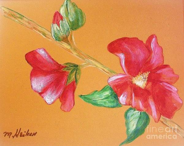 Hibiscus Flower Painting - Hibiscus In Full Bloom by Marsha Heiken
