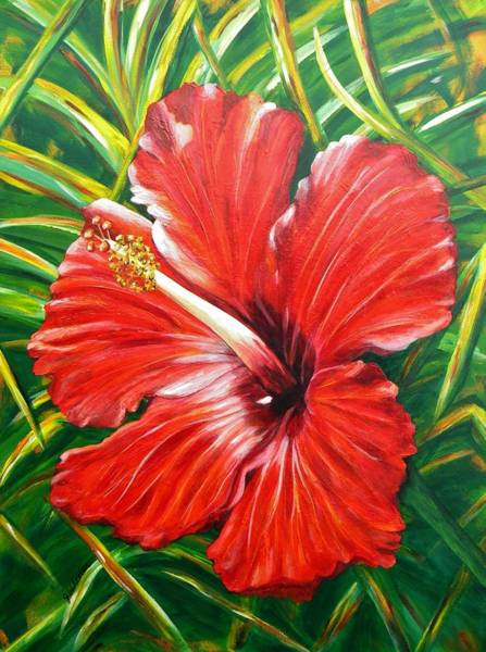 Hibiscus Flower Painting - Hibiscus by JoAnn Wheeler
