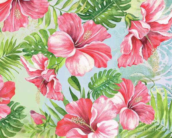 Hibiscus Painting - Hibiscus Paradise-jp3966 by Jean Plout