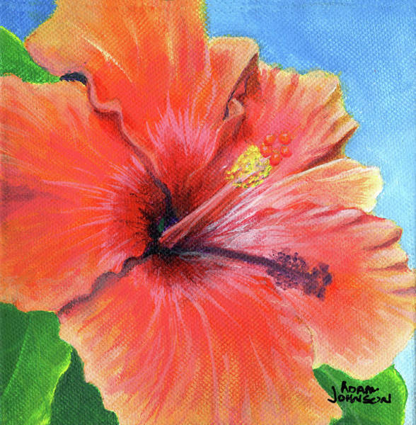 Painting - Hibiscus Passion by Adam Johnson