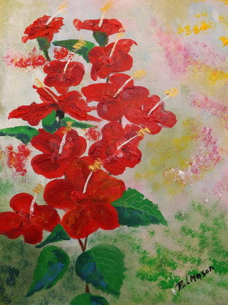 Wall Art - Painting - Hibiscus by Rich Mason