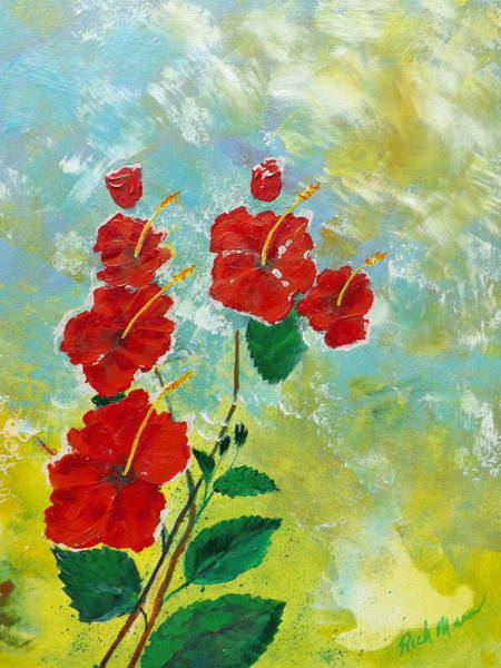 Wall Art - Painting - Hibiscus3 by Rich Mason