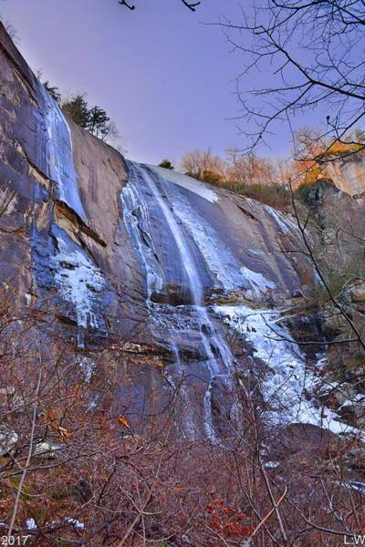Photograph - Hickory Nut Falls At Chimney Rock State Park Vertical by Lisa Wooten