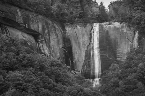 Photograph - Hickory Nut Falls Bw by Joye Ardyn Durham