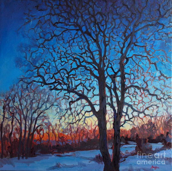 Painting - Hickory Twins by Patricia A Griffin