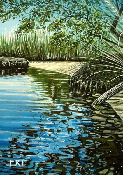 Painting - Hidden Beach by Elizabeth Robinette Tyndall