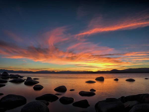Photograph - Hidden Beach Sunset by Martin Gollery