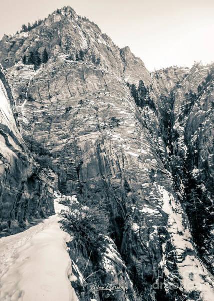 Photograph - Hidden Canyon, Black And White by Adam Morsa