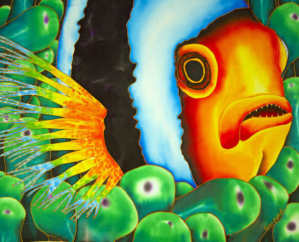 Clownfish Painting - Hidden Clownfish by Daniel Jean-Baptiste