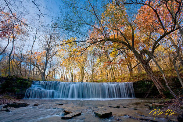 Photograph - Hidden Falls In Autumn At Full Flow by Rikk Flohr