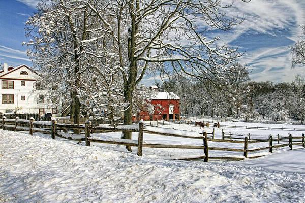 Snow Fence Digital Art - Hidden Farm by Geraldine Scull