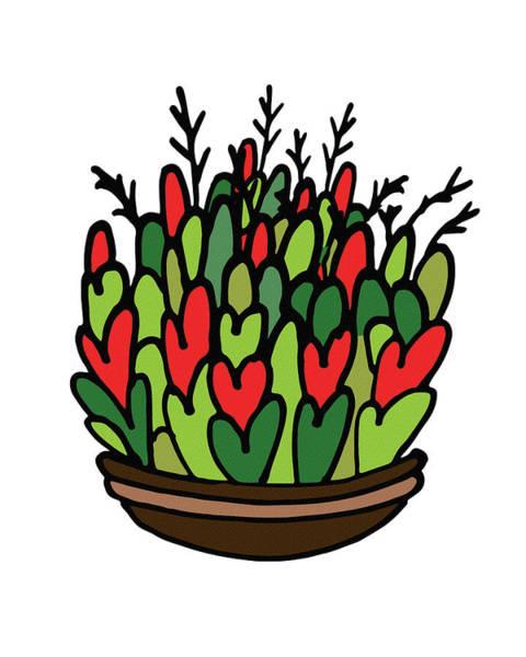 Digital Art - Hidden Hearts Plant Illustration  by Irina Sztukowski