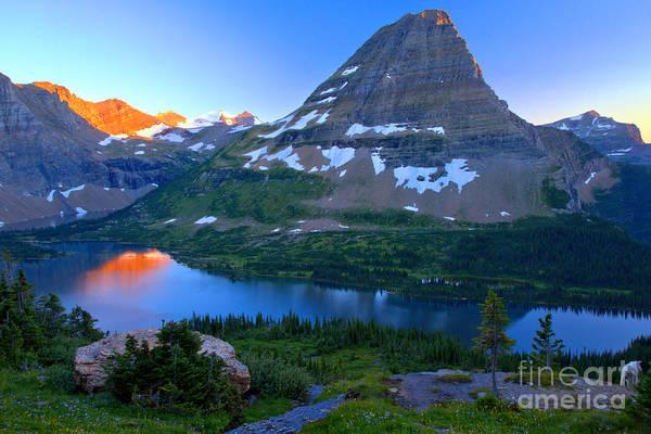 Photograph - Hidden Lake Summer Sunset by Adam Jewell