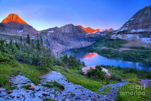 Photograph - Hidden Lake Sunset Landscape by Adam Jewell