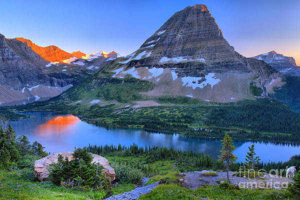Photograph - Hidden Lake Touch Of Red by Adam Jewell
