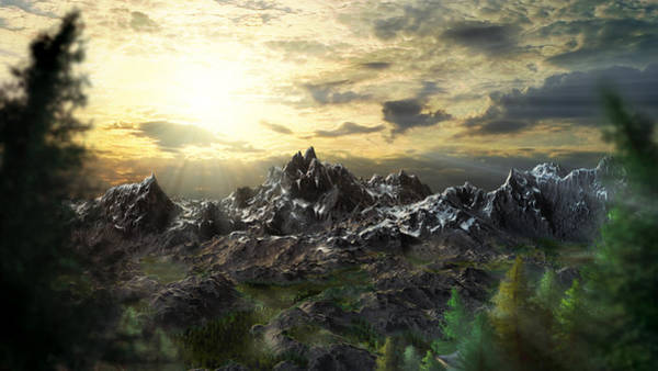 Pine Valley Digital Art - Hidden Mountain by Arcuedes Cosmos