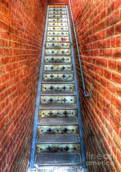 Photograph - Hidden Stairway In Old Bisbee Arizona by Charlene Mitchell